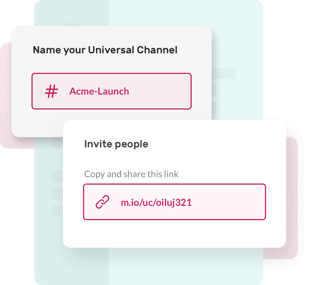Universal channels - chat in one place